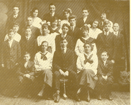 Red Smith in 1917 Freshman Class Photo